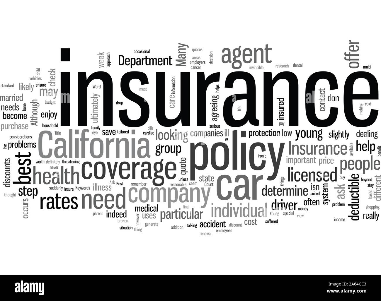 How To Get The Best Rates On Car Insurance In California Stock Vector
