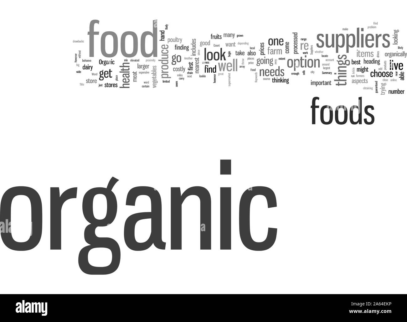 How To Find Organic Food Suppliers Stock Vector