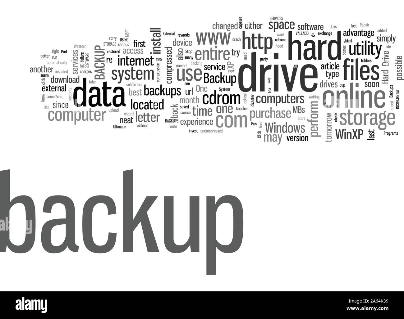 How To Backup Your Hard Drive Stock Vector