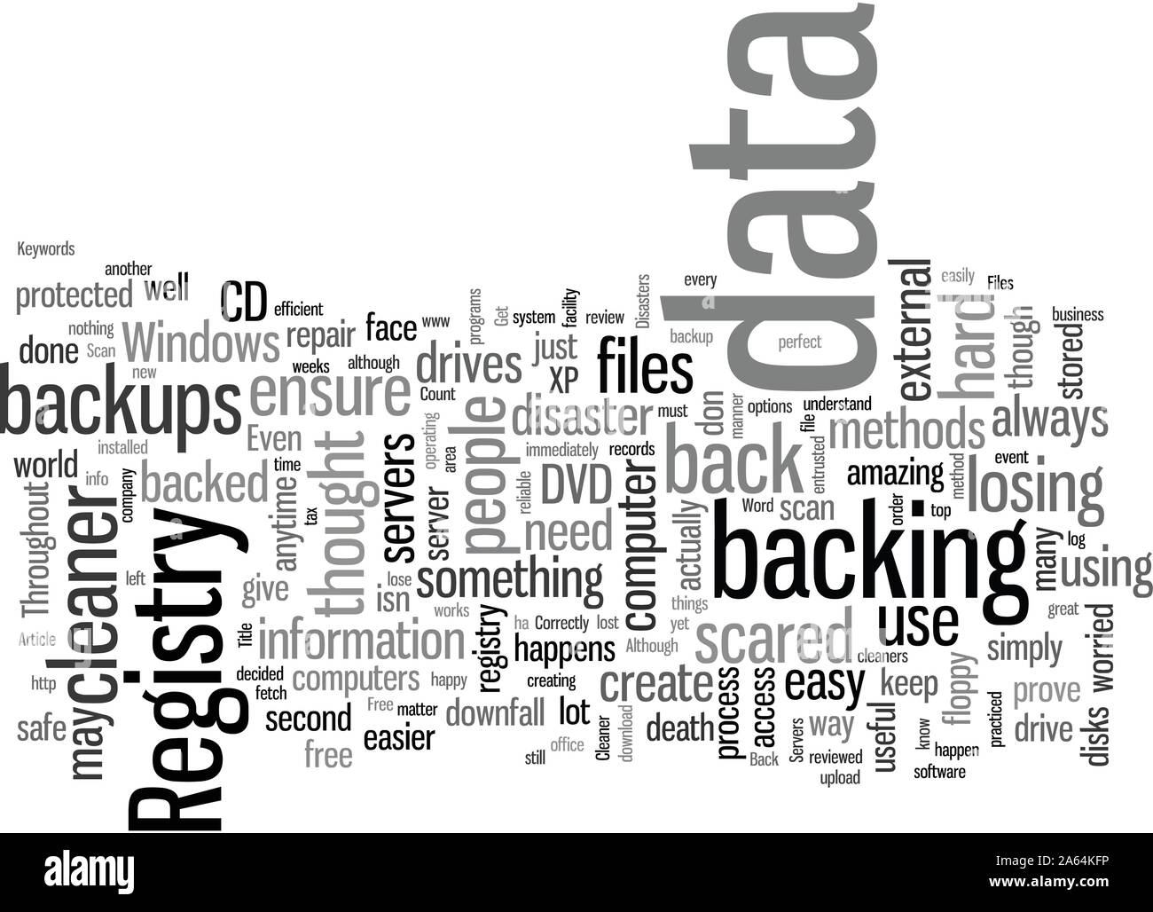 How To Back Up Files Correctly Stock Vector