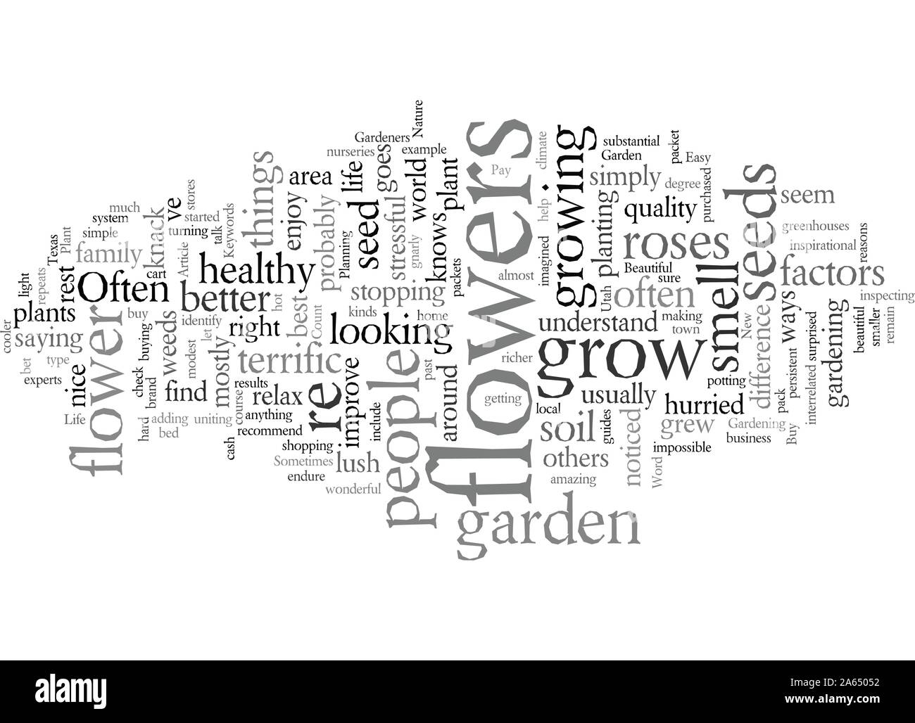 Enjoy Life With Your Own Flower Garden Beautiful Easy Stock Vector