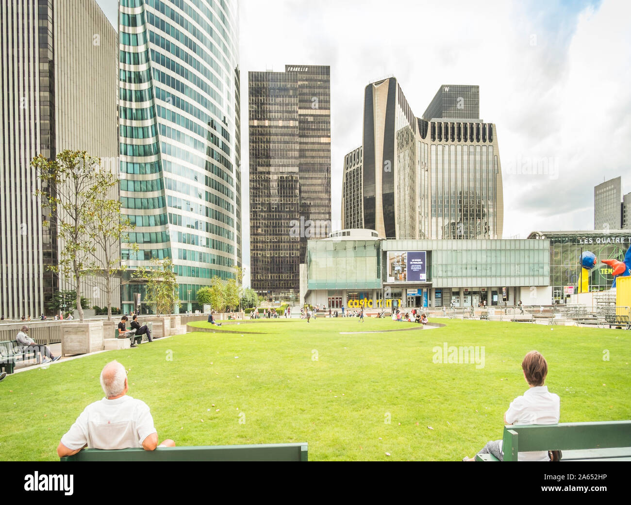 high-rise office buildings at la defense Stock Photo