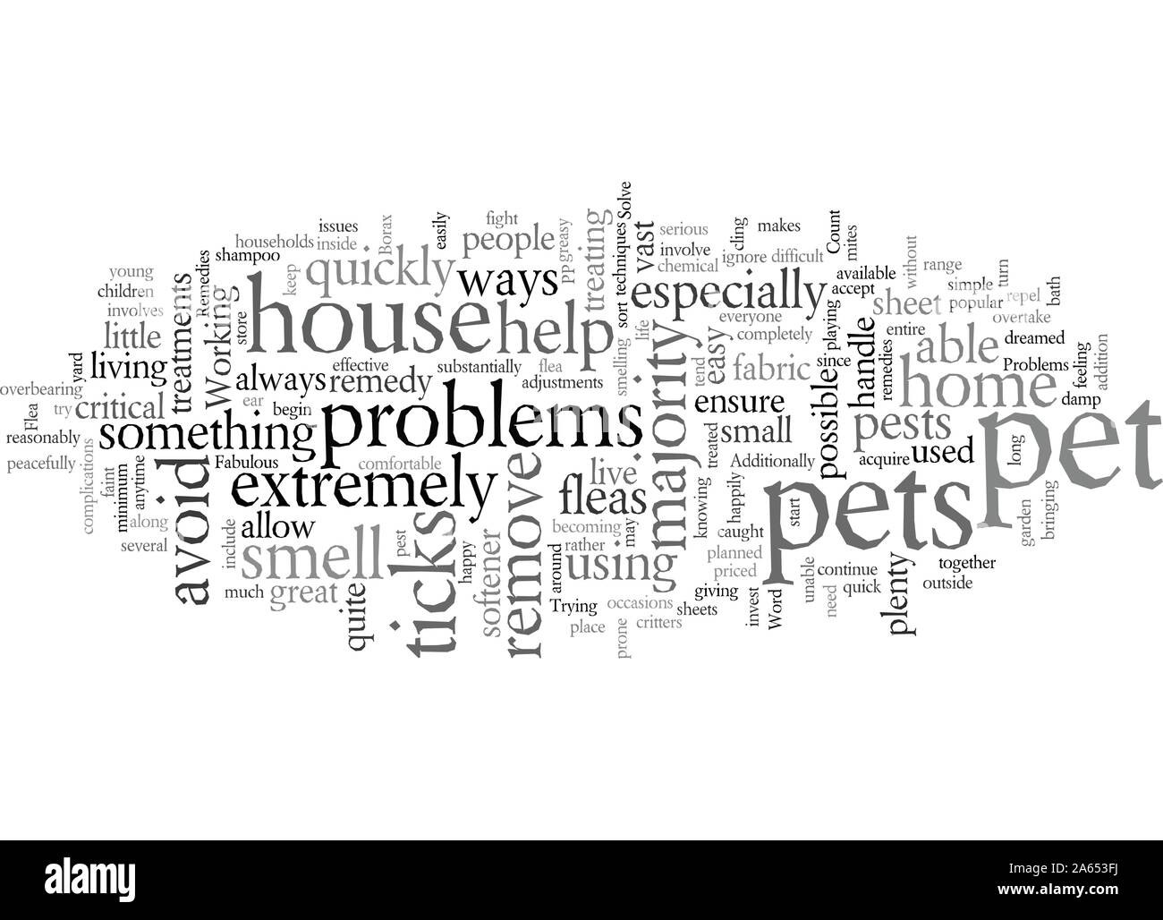 Fabulous Pet Remedies to Solve Your Problems Stock Vector