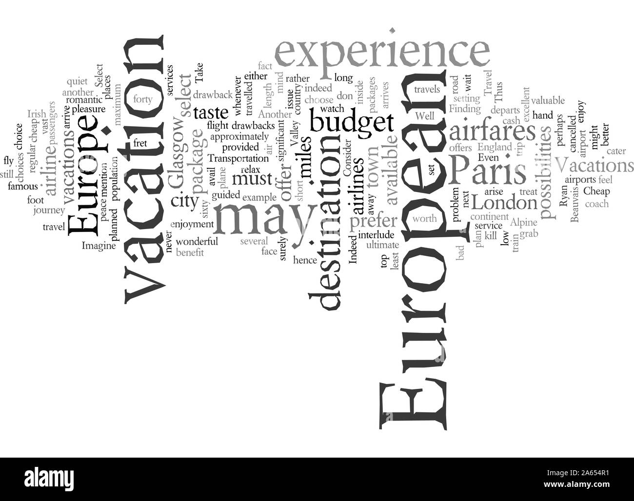 european vacations Stock Vector