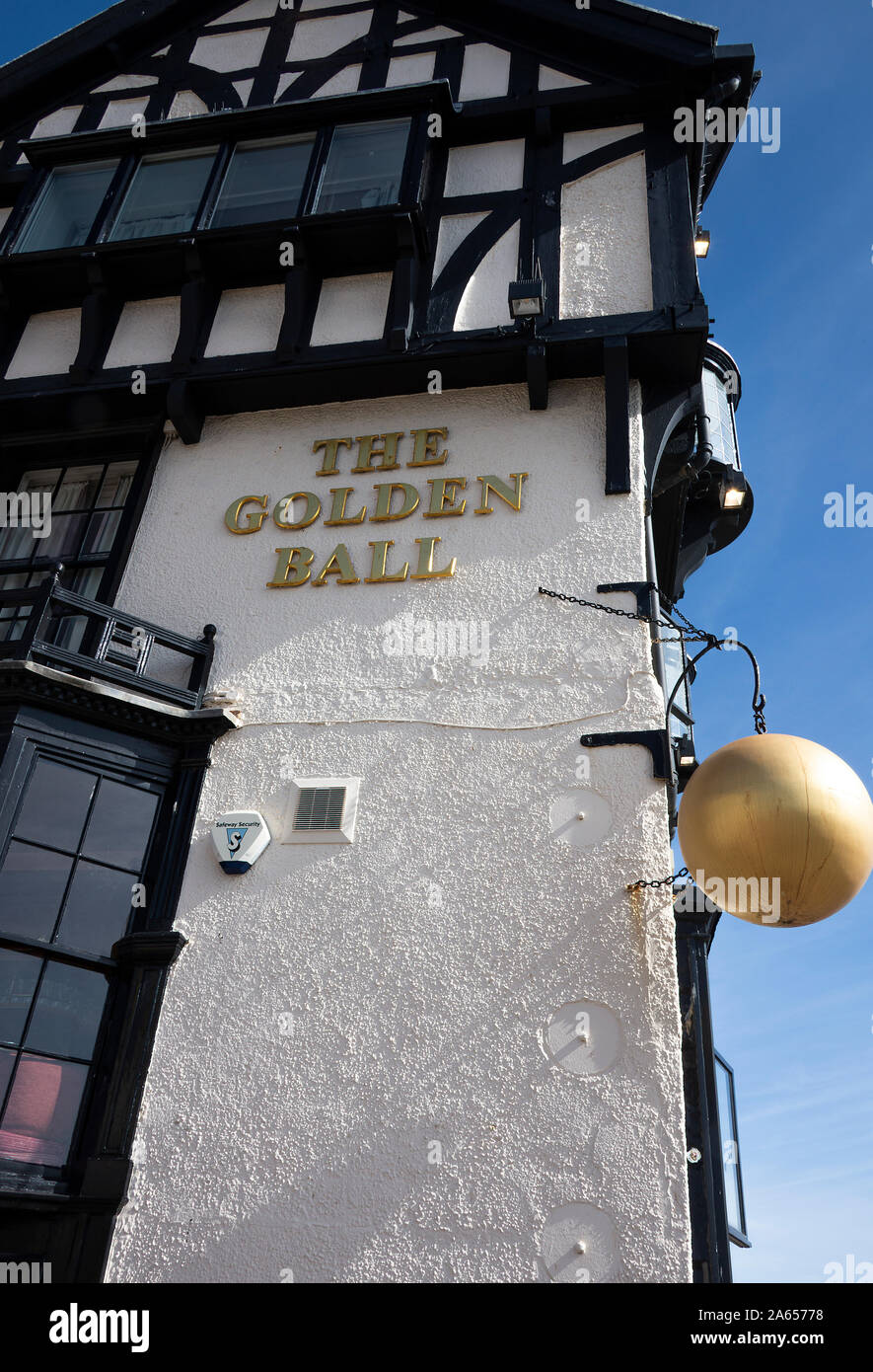 An External View  of The Golden Ball Public House and Restaurant in Scarborough North Yorkshire England United Kingdom UK Stock Photo