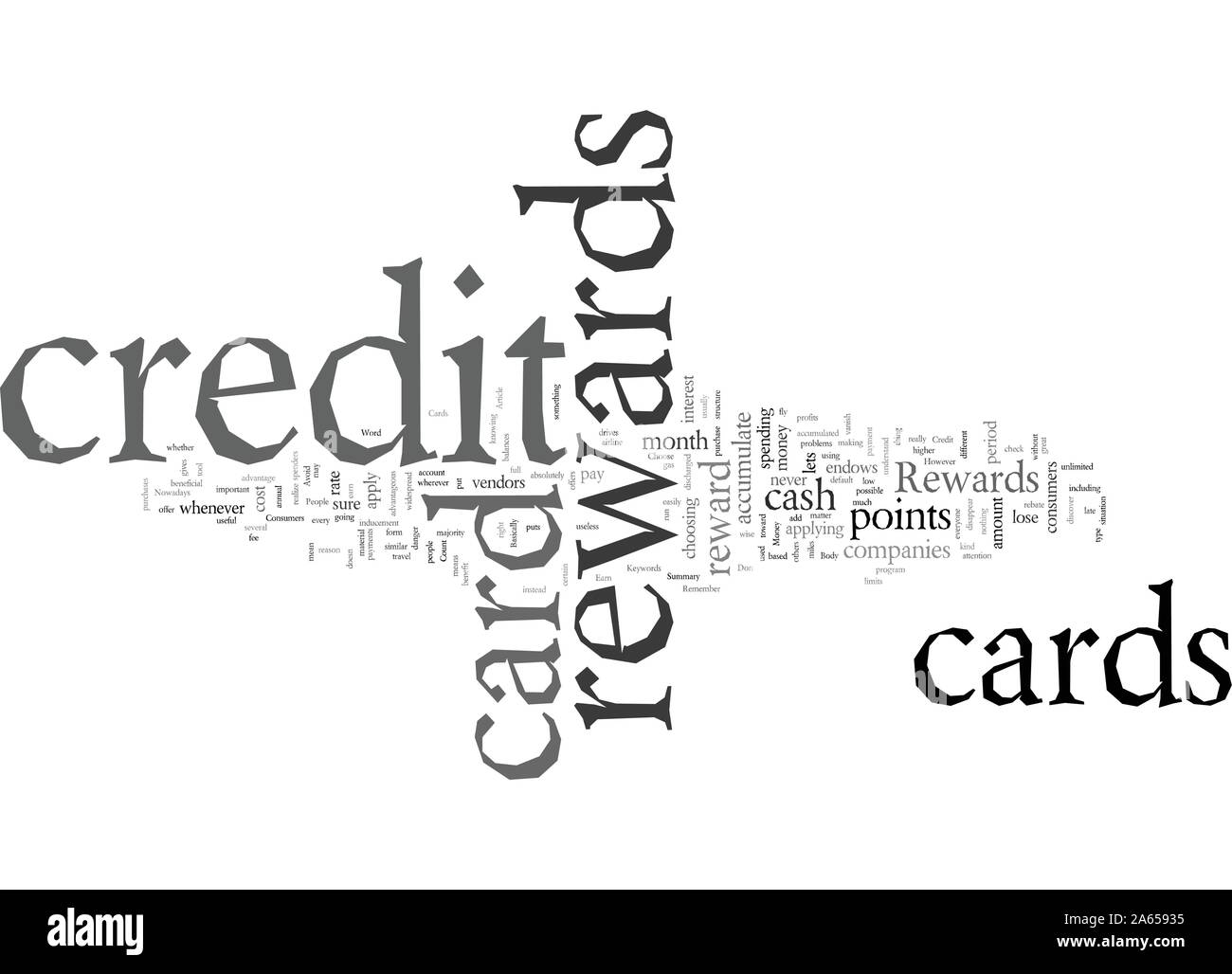 Earn Money with Rewards Credit Cards Stock Vector