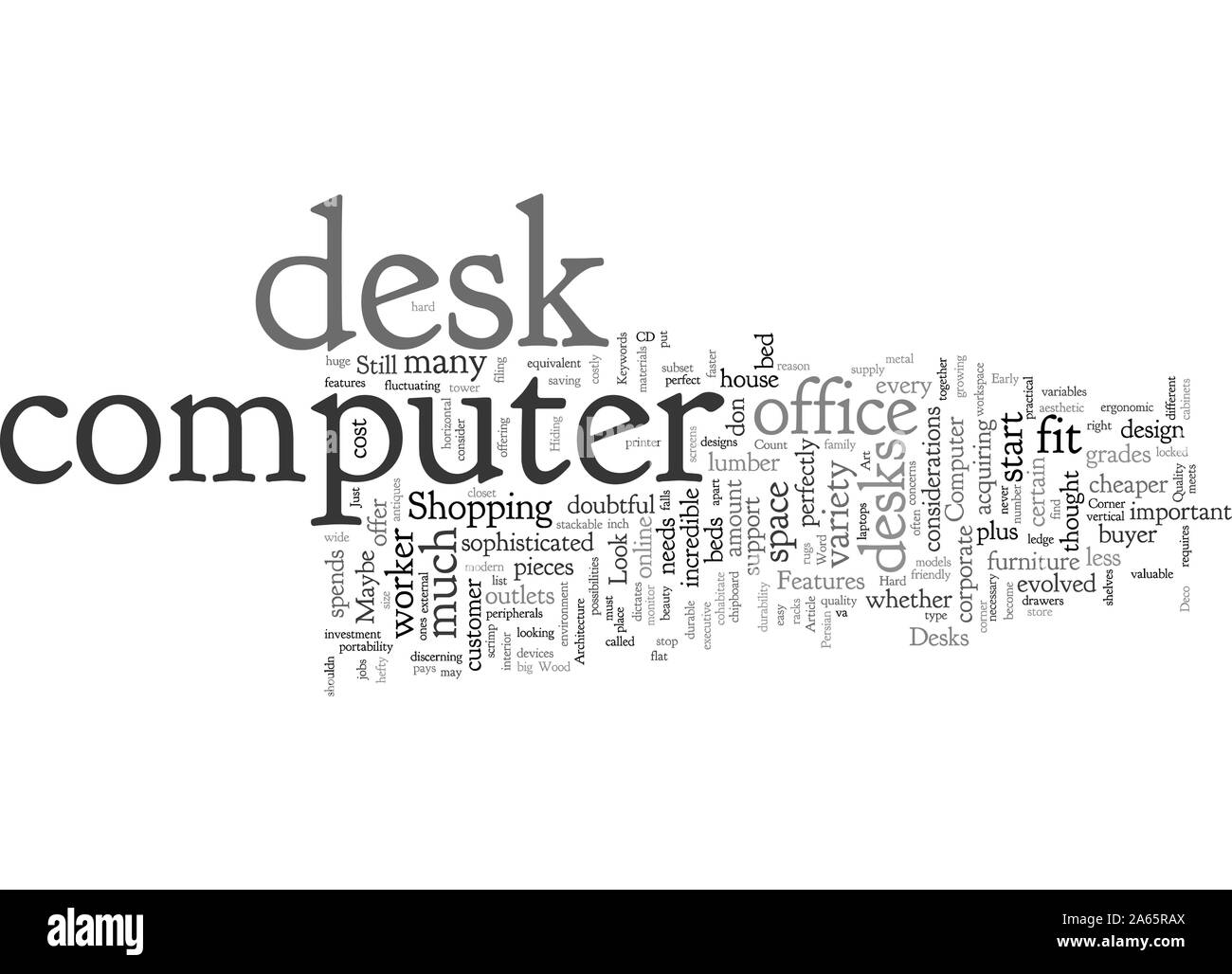 Computer Desks Features To Look For Stock Vector