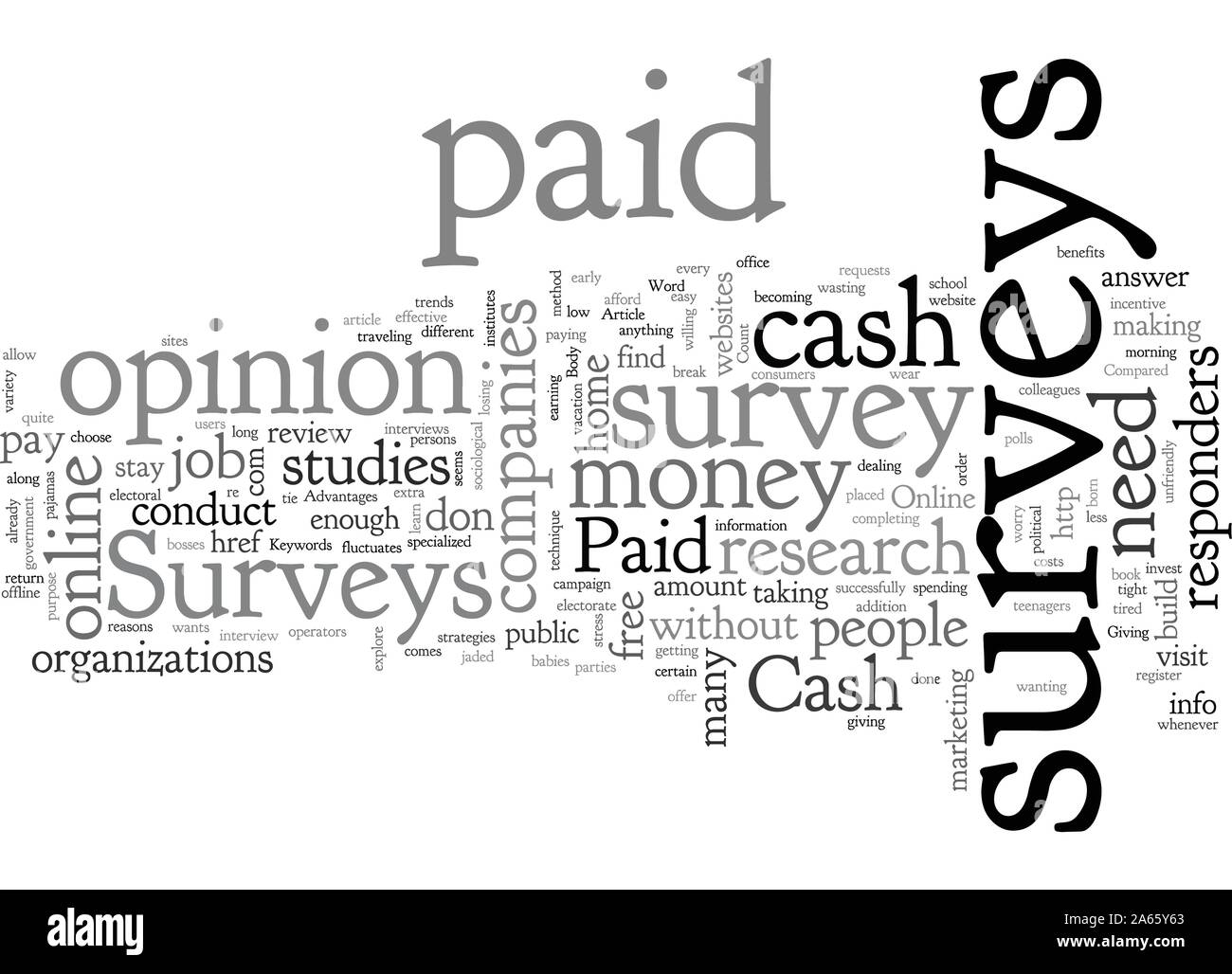 Cash Paid Surveys Exactly What Are They Stock Vector