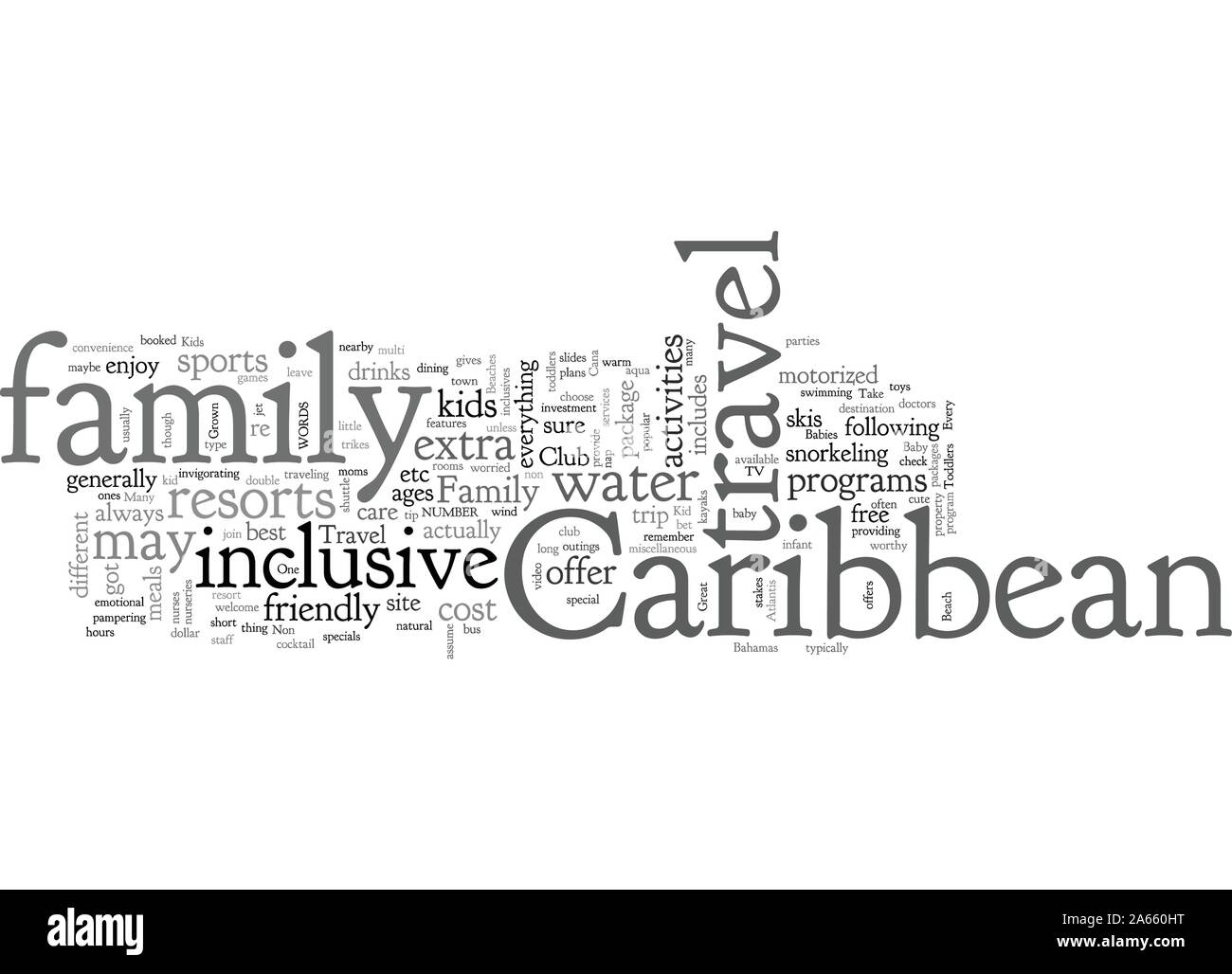 Caribbean Family Trave Stock Vector