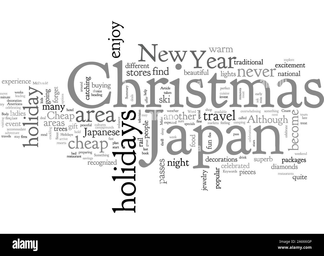 Cheap Holidays To Japan Stock Vector