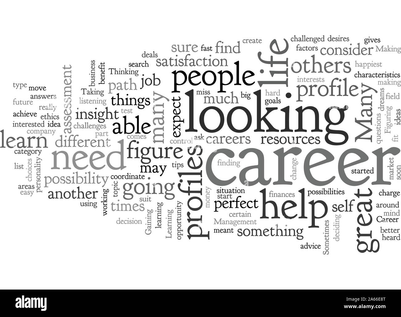 Career profiles you can consider Stock Vector