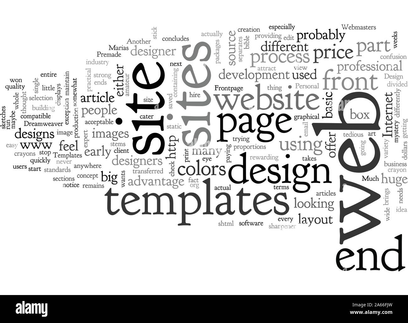 Build Websites Easier With Premade Templates Stock Vector
