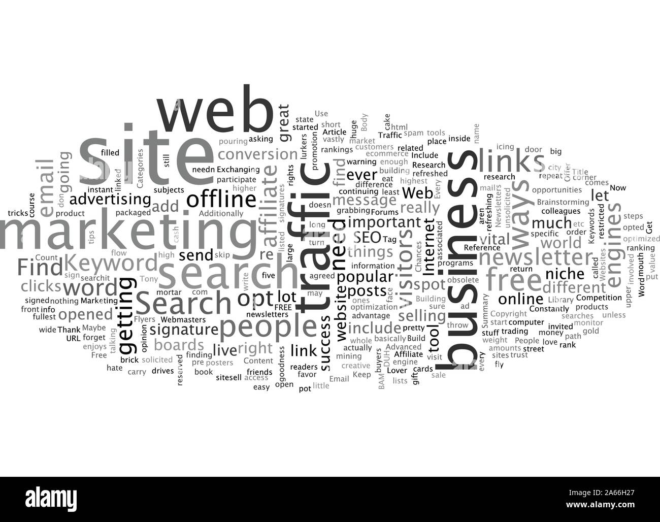 Build Free Traffic To Your Websites Stock Vector