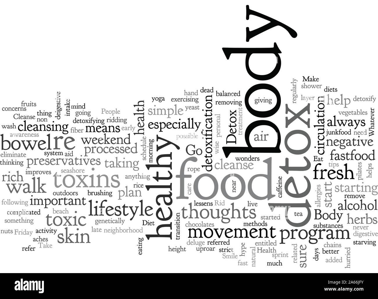 body detox Stock Vector