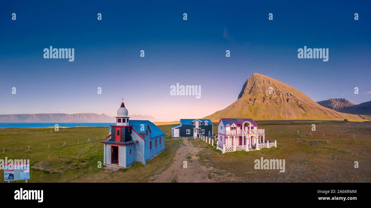 The Samuel Jonsson Art Museum, Arnarfjordur Westfjords, Iceland Stock Photo