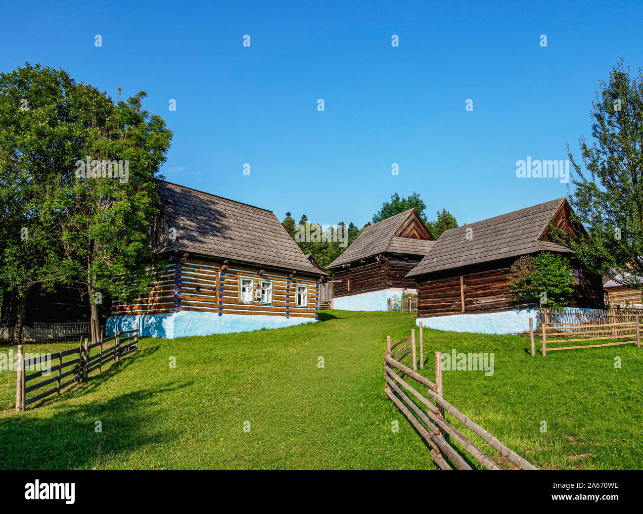 Open Air Museum at Stara Lubovna, Presov Region, Slovakia Stock Photo