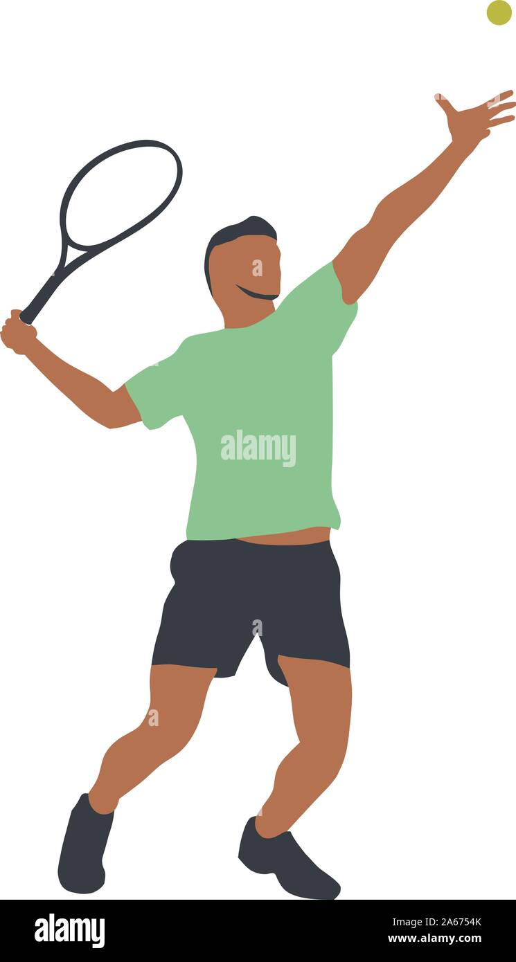 Tennis Player Isolated Vector Drawing Abstract Silhouette Forehand Individual Sport Active People Stock Vector Image Art Alamy
