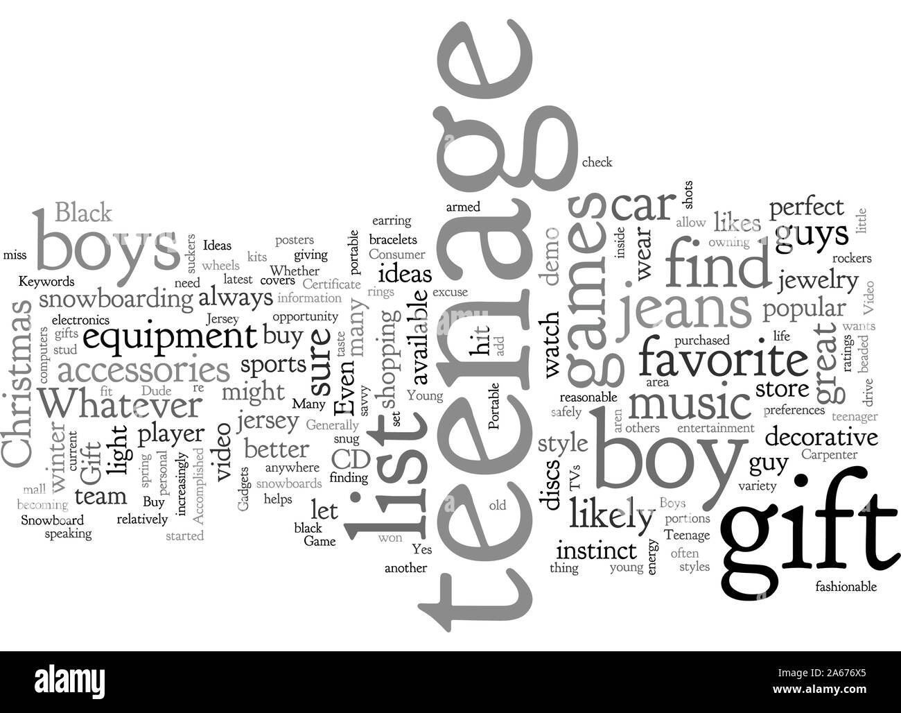 Awesome Gift Ideas For The Teenage Dude Stock Vector