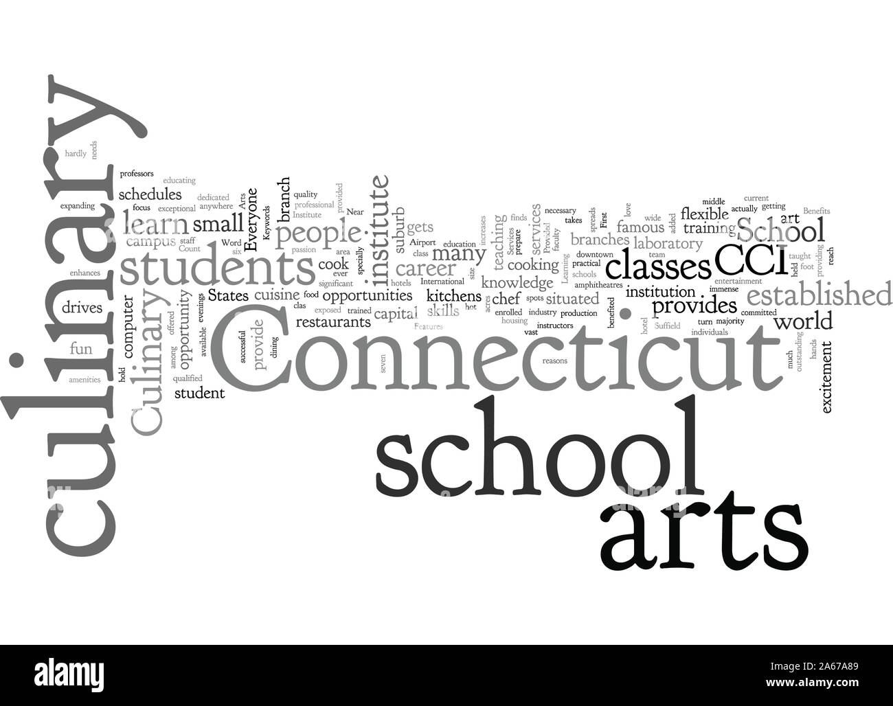 Arts Culinary School In Connecticut Stock Vector