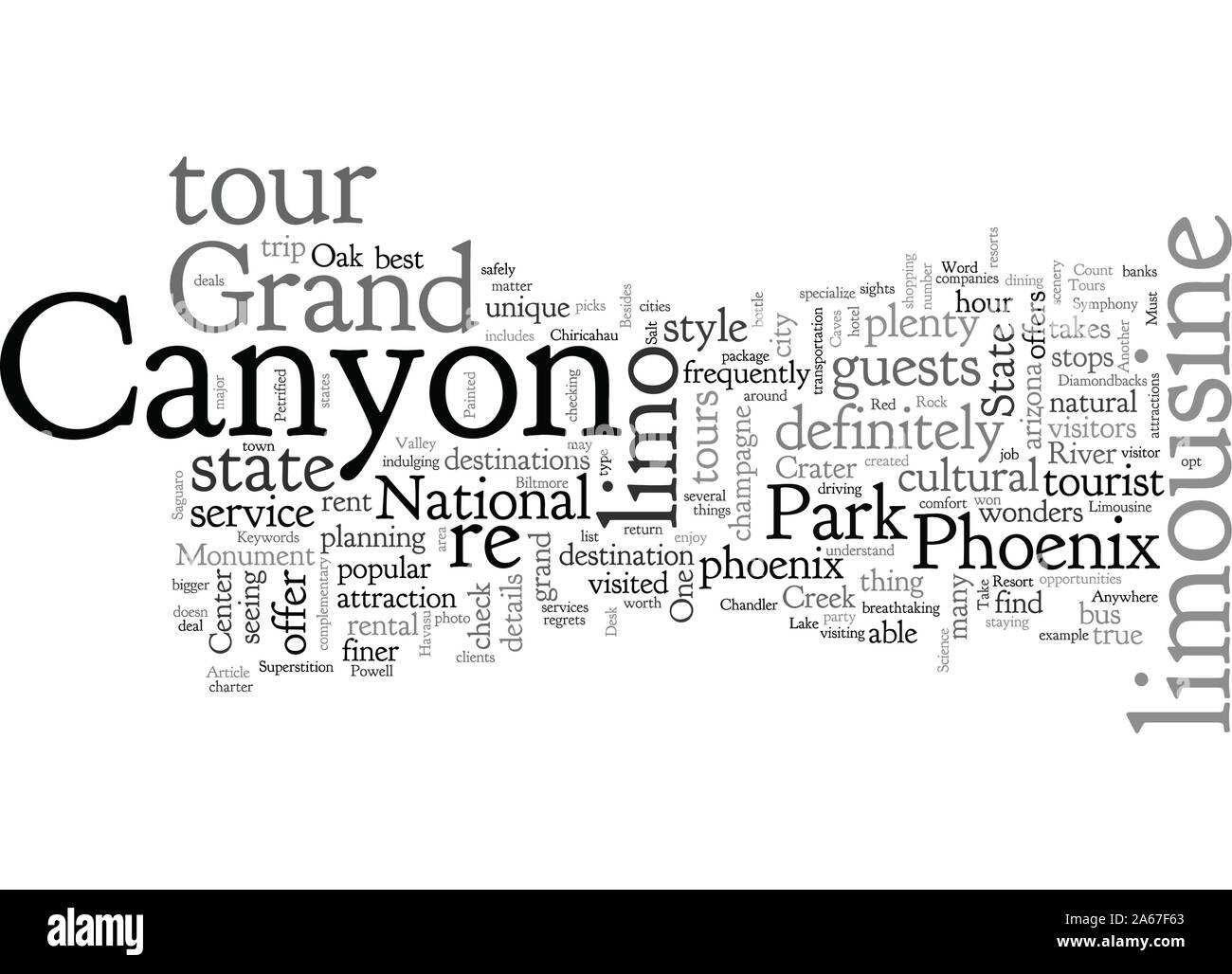 Arizona Limousine Tours Can Take You Anywhere Stock Vector