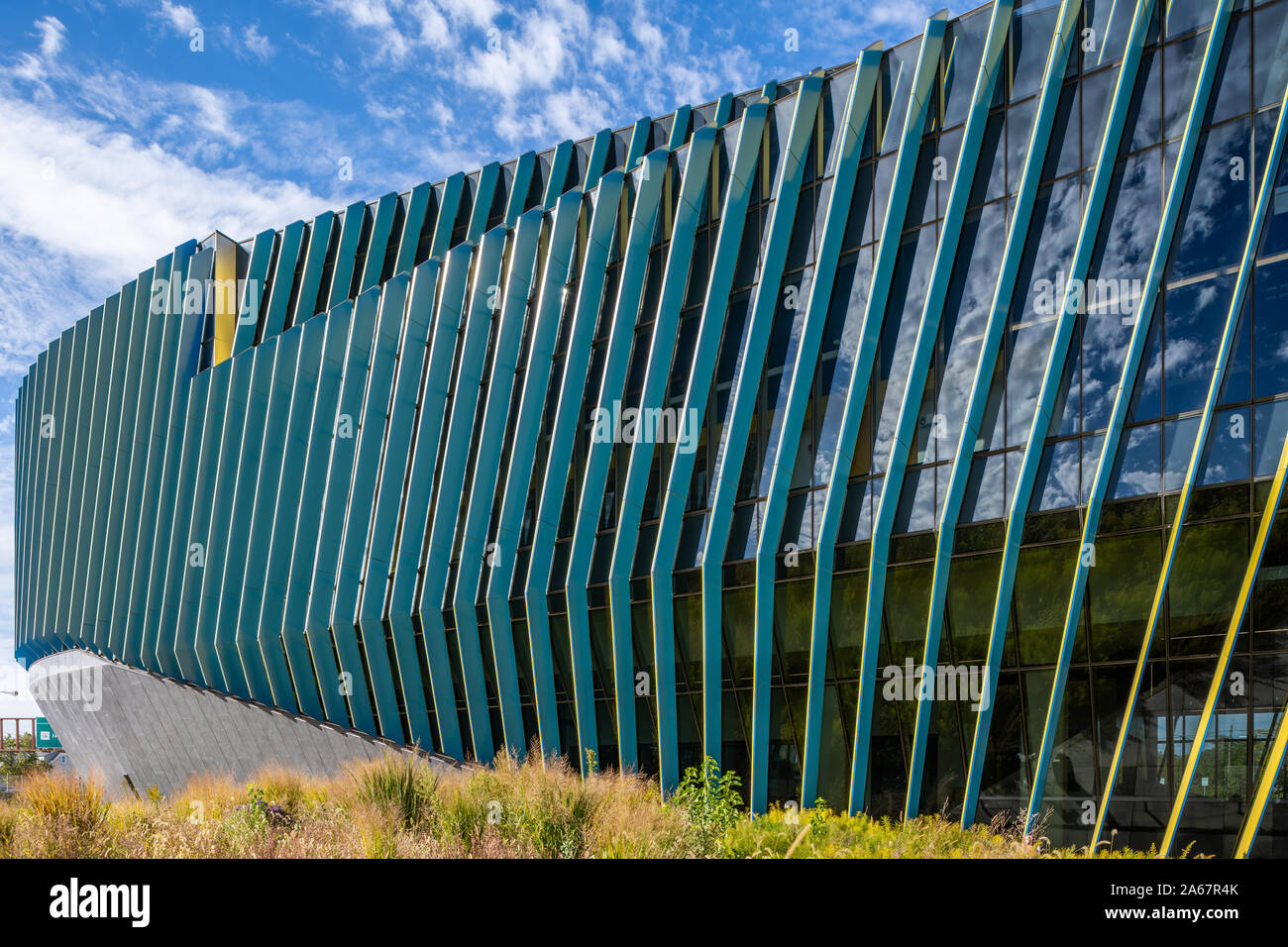 El Centro location of Northeastern Illinois University, designed by JGMA. Stock Photo