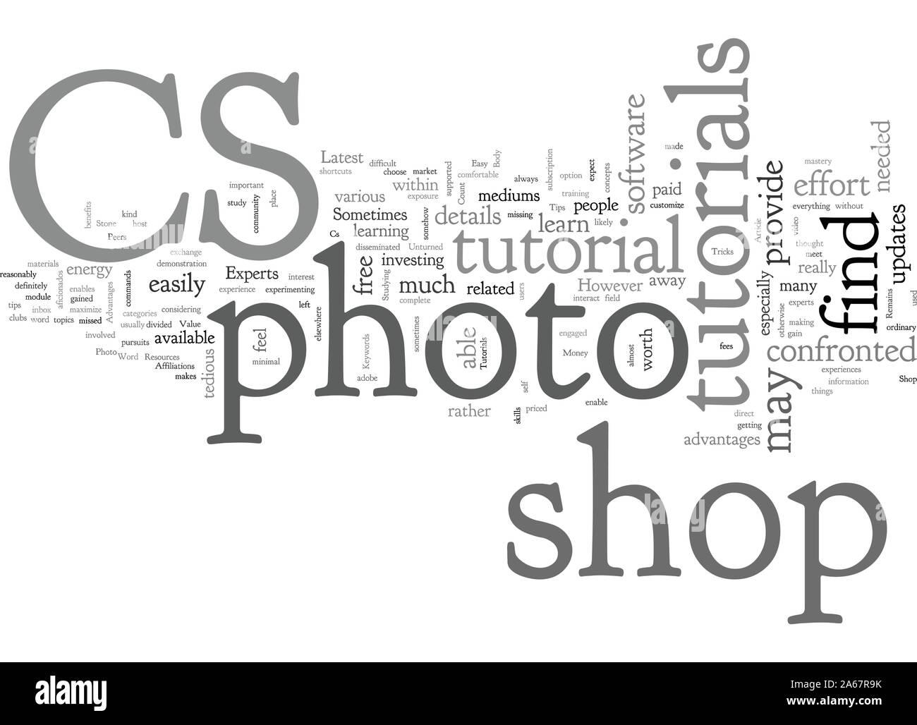 Advantages Of Cs Photo Shop Tutorials Stock Vector