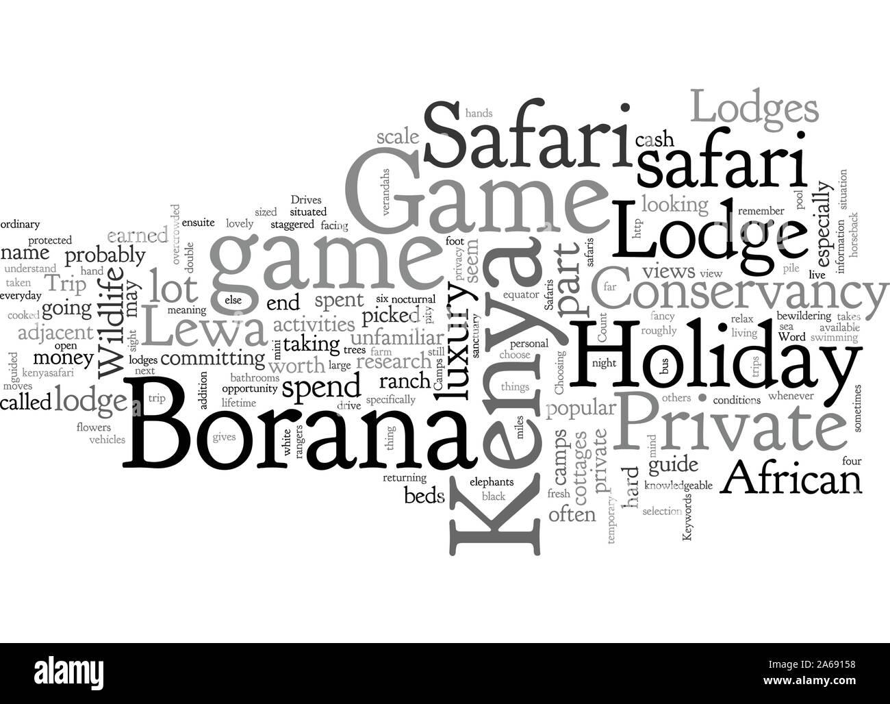 A Kenya Safari Holiday At A Private Game Lodge Next To The Lewa Conservancy Stock Vector