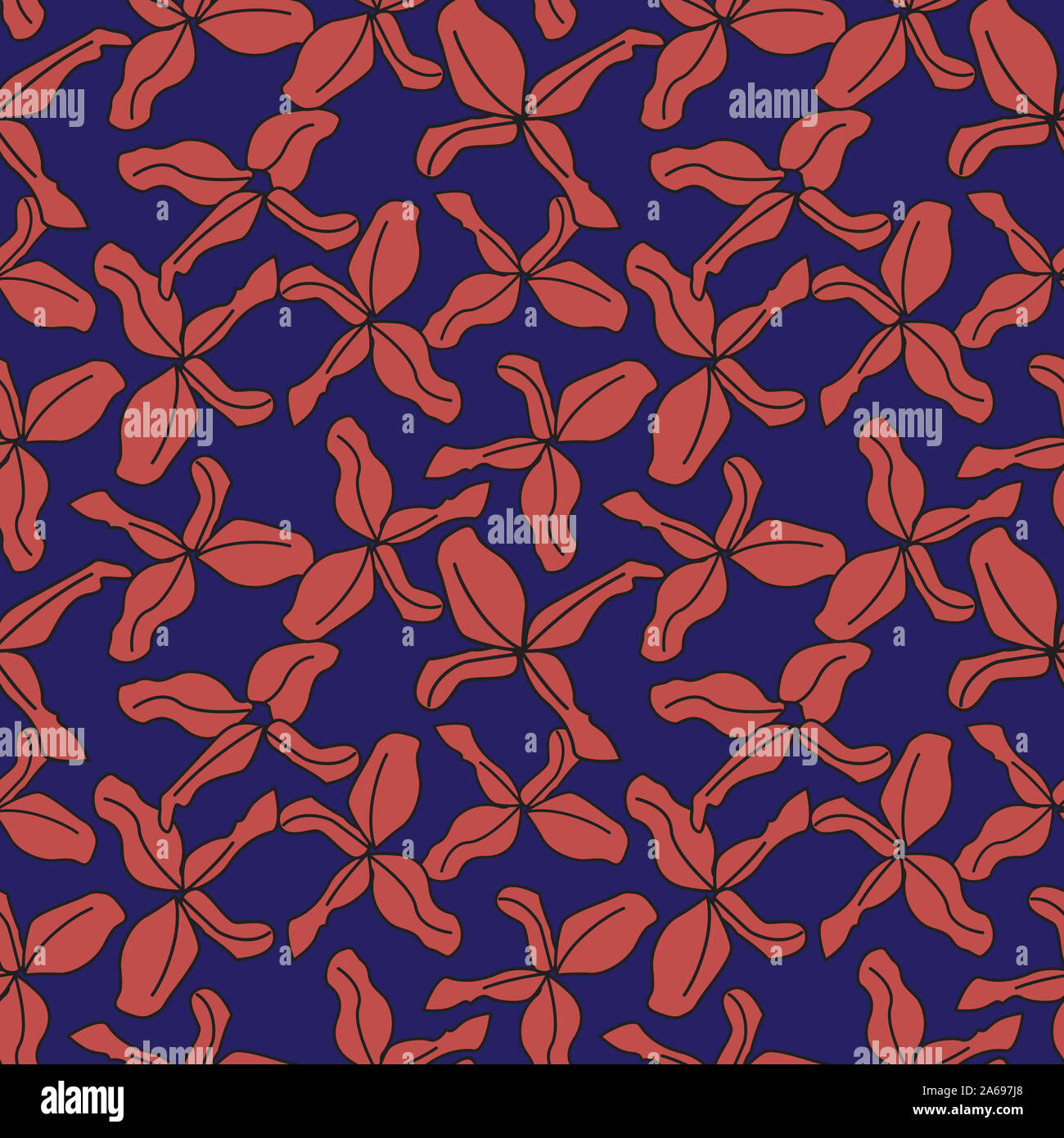 Colourful Decorative Botanical Floral Pattern In Vector Suitable