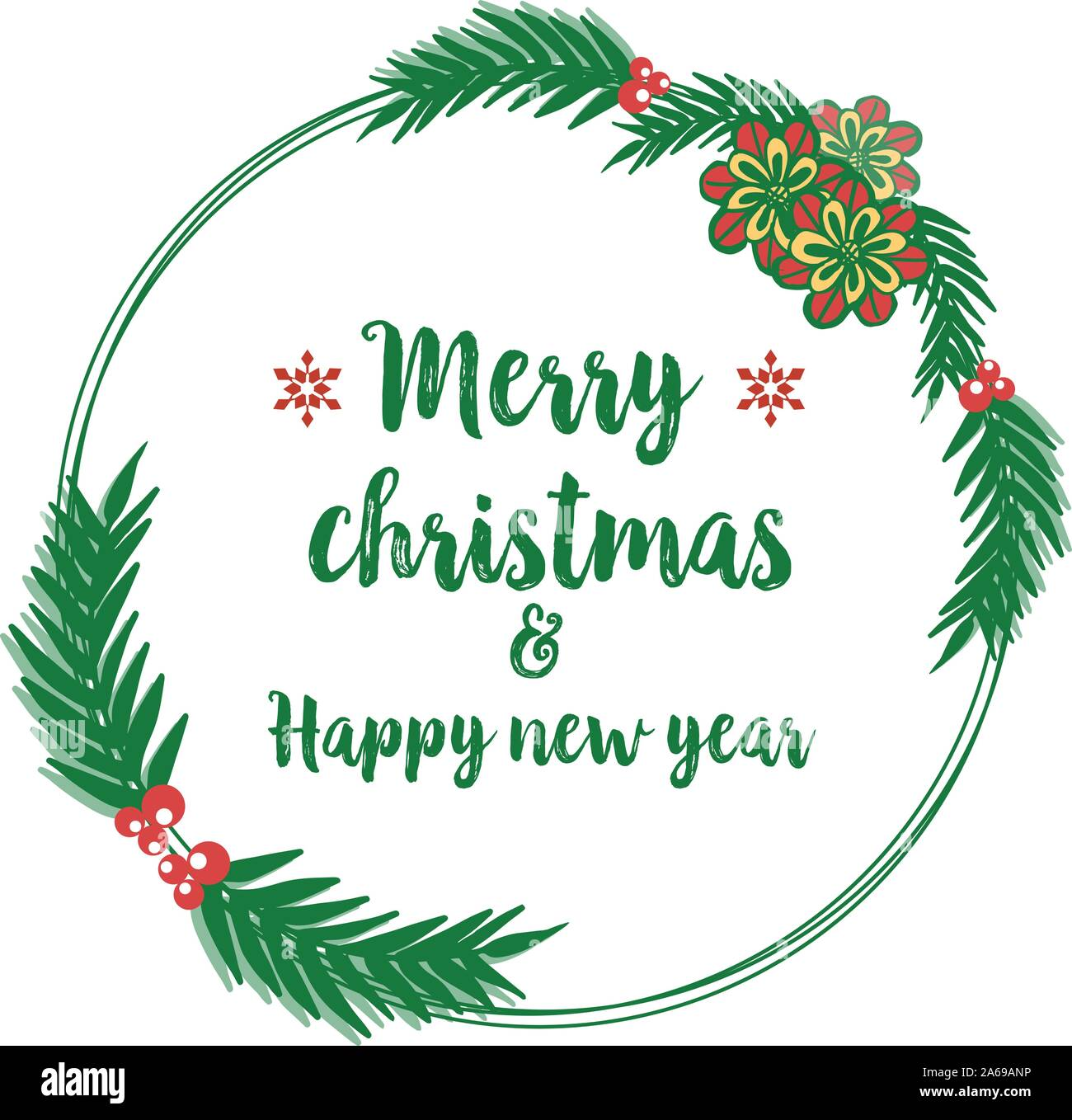 poster design merry christmas and happy new year with decor elegant colorful flower frame vector stock vector image art alamy https www alamy com poster design merry christmas and happy new year with decor elegant colorful flower frame vector image330890946 html