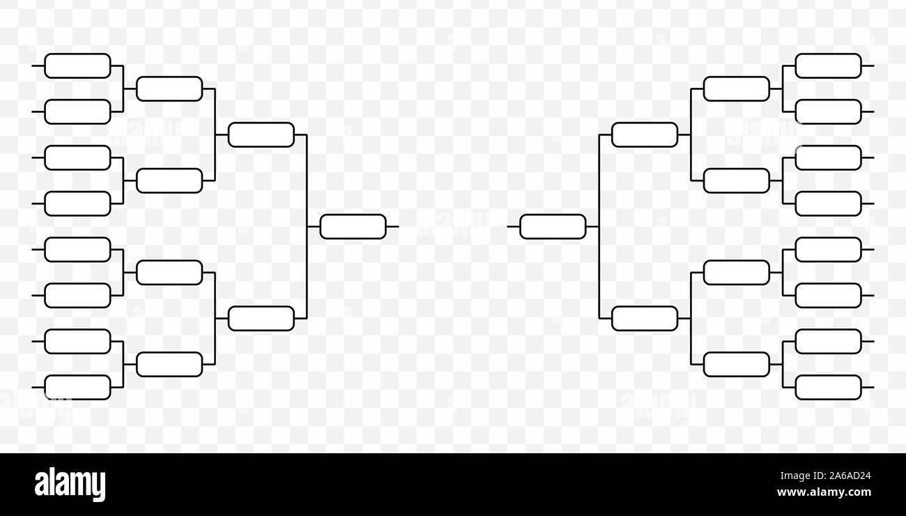 Team Tournament Bracket Play Off Template Stock Vector Image Art Alamy