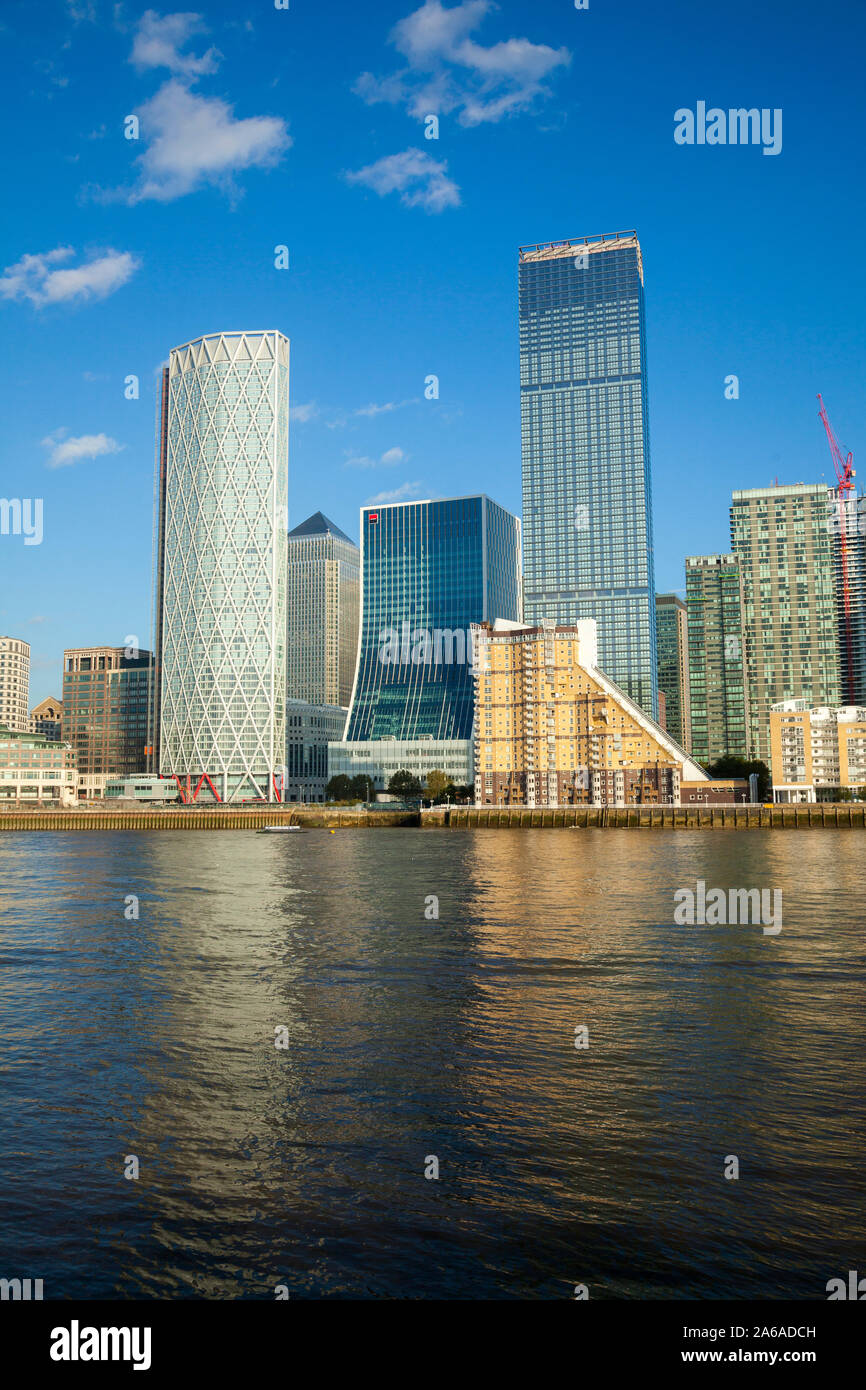 Canary Wharf  complex in Docklands London Photographed in Nov 2019. Stock Photo