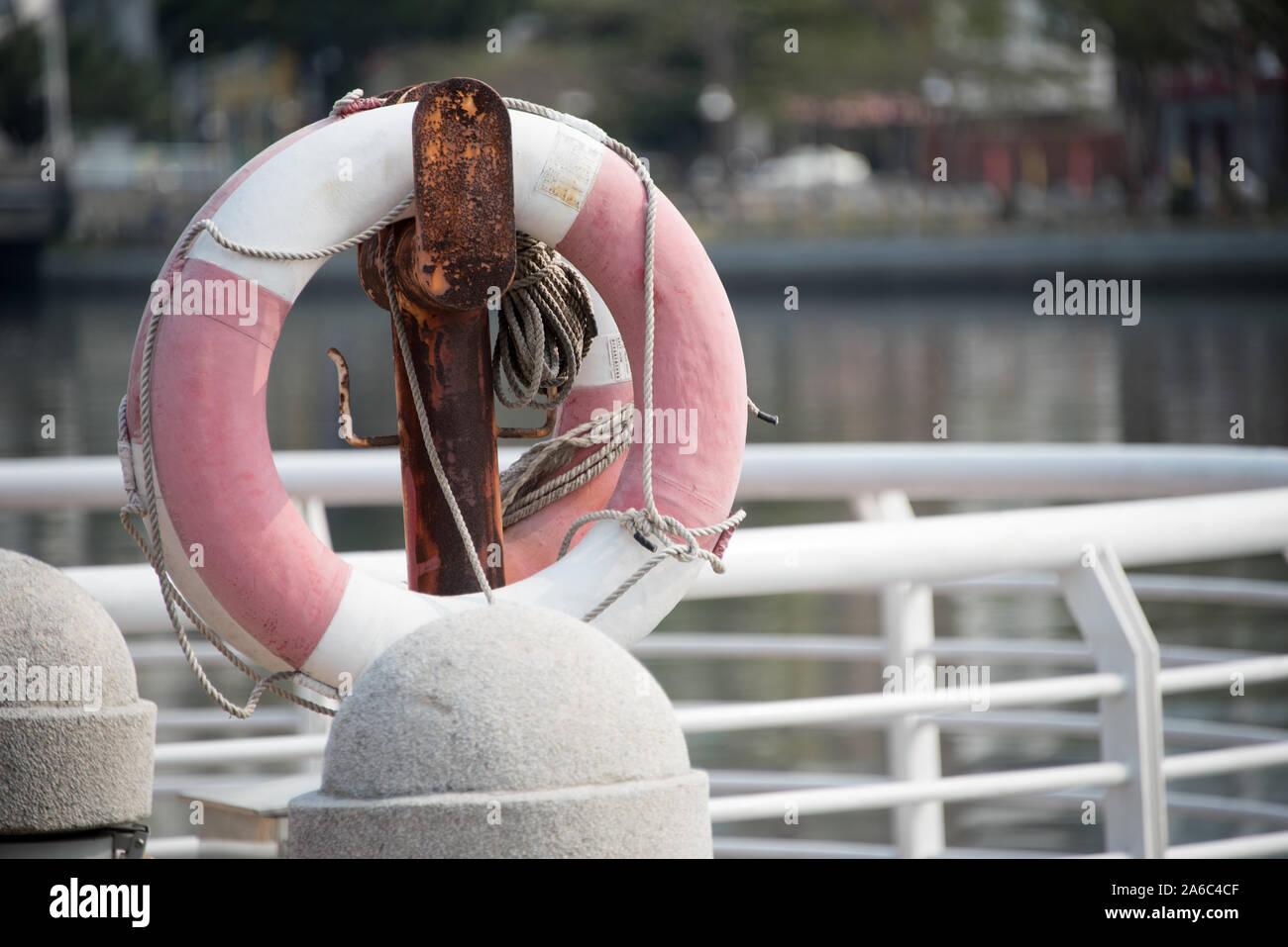 Life-saver at Love River Stock Photo