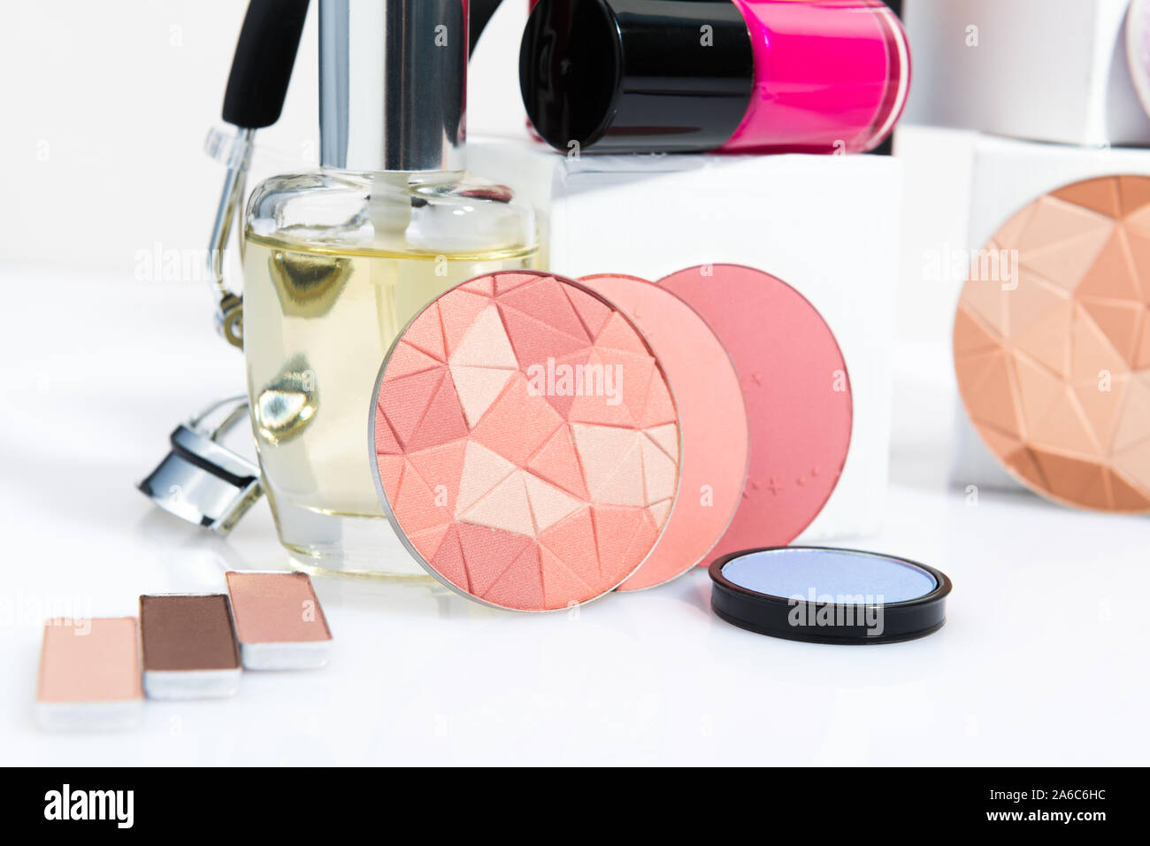 still life with beauty and makeup products Stock Photo