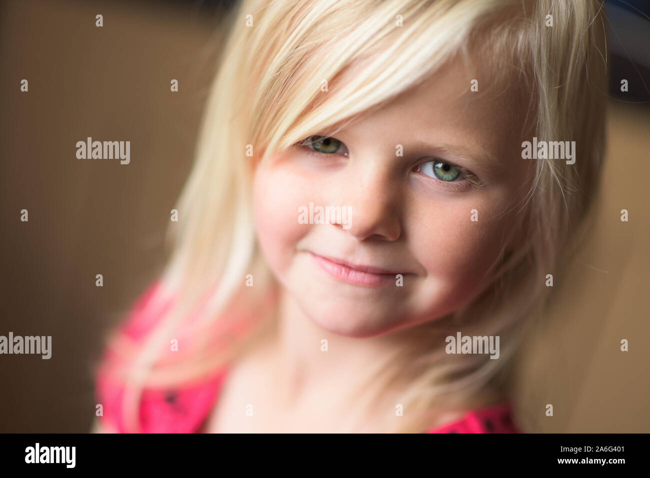 Pretty Green Eye Girl Blonde High Resolution Stock Photography And