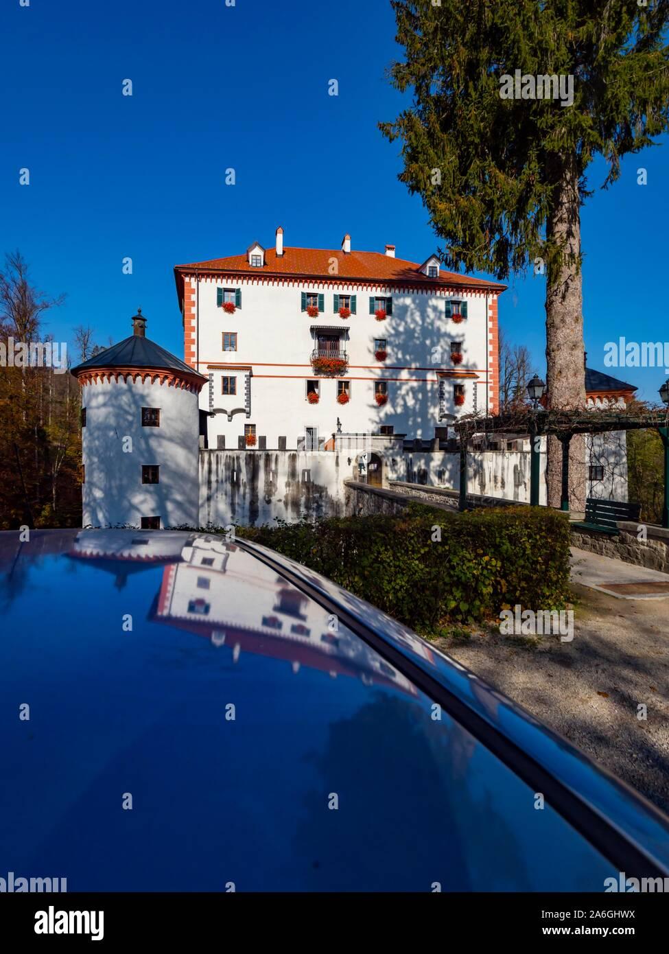 Sneznik castle in Slovenia Stock Photo