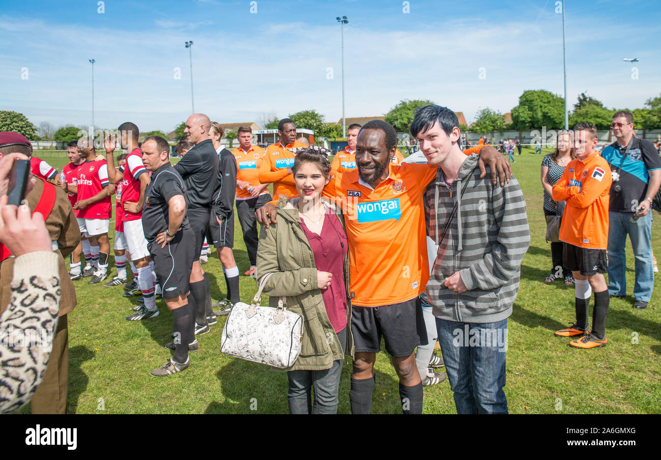 Famous Actor Gary Beadle Helps Me Out On A Charity Fun Day The Famous Actor Playing Football For A Good Cause Eastenders Holby City Silent Witness Stock Photo Alamy