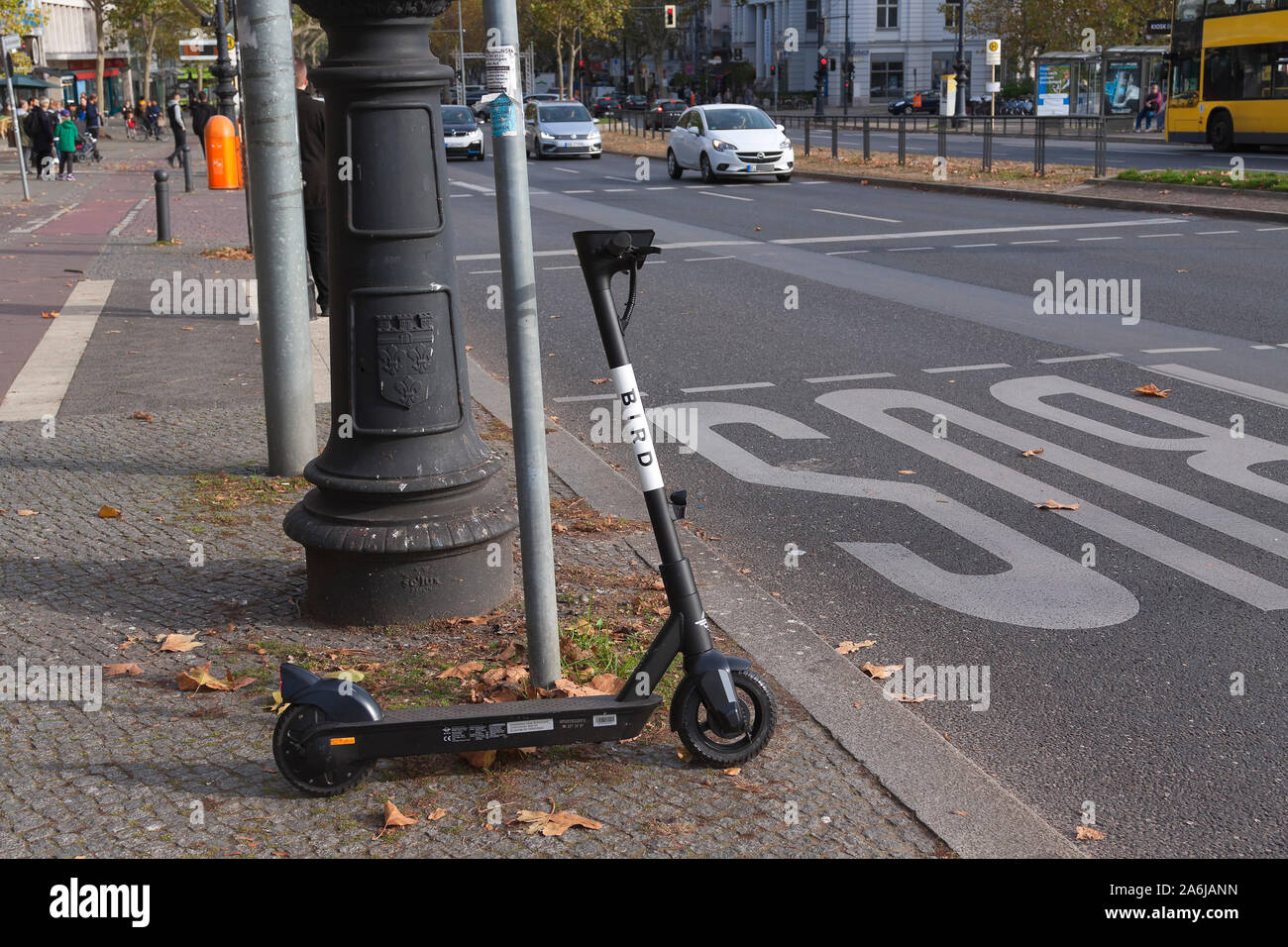 E scooter of Bird in Berlin Stock Photo