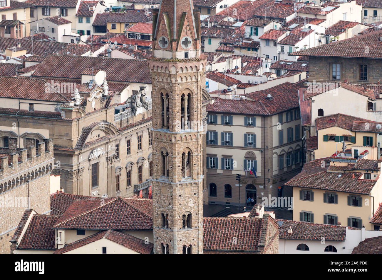 Badia Fiorentina in Historic Centre of Florence listed World Heritage by UNESCO in Florence, Tuscany, Italy. August 23rd 2019© Wojciech Strozyk / Alam Stock Photo