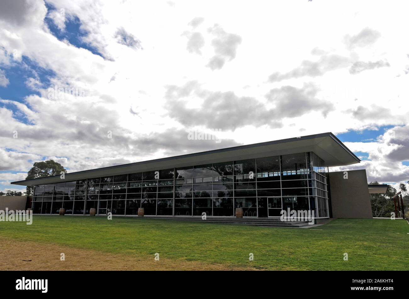 Jacobs Creek visitors centre in the  Barossa Valley  wine growing region in south Australia.  There are about 150 wineries in the Barossa Valley wine Stock Photo