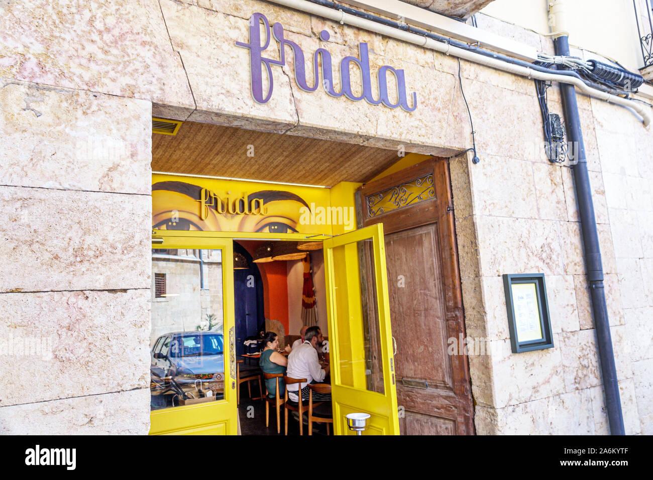 Tarragona Spain Catalonia Catalunya Part Alta Historic District Restaurant Frida Restaurant Mexican Cuisine Exterior Front Entrance Eyebrows Spanish E Stock Photo Alamy