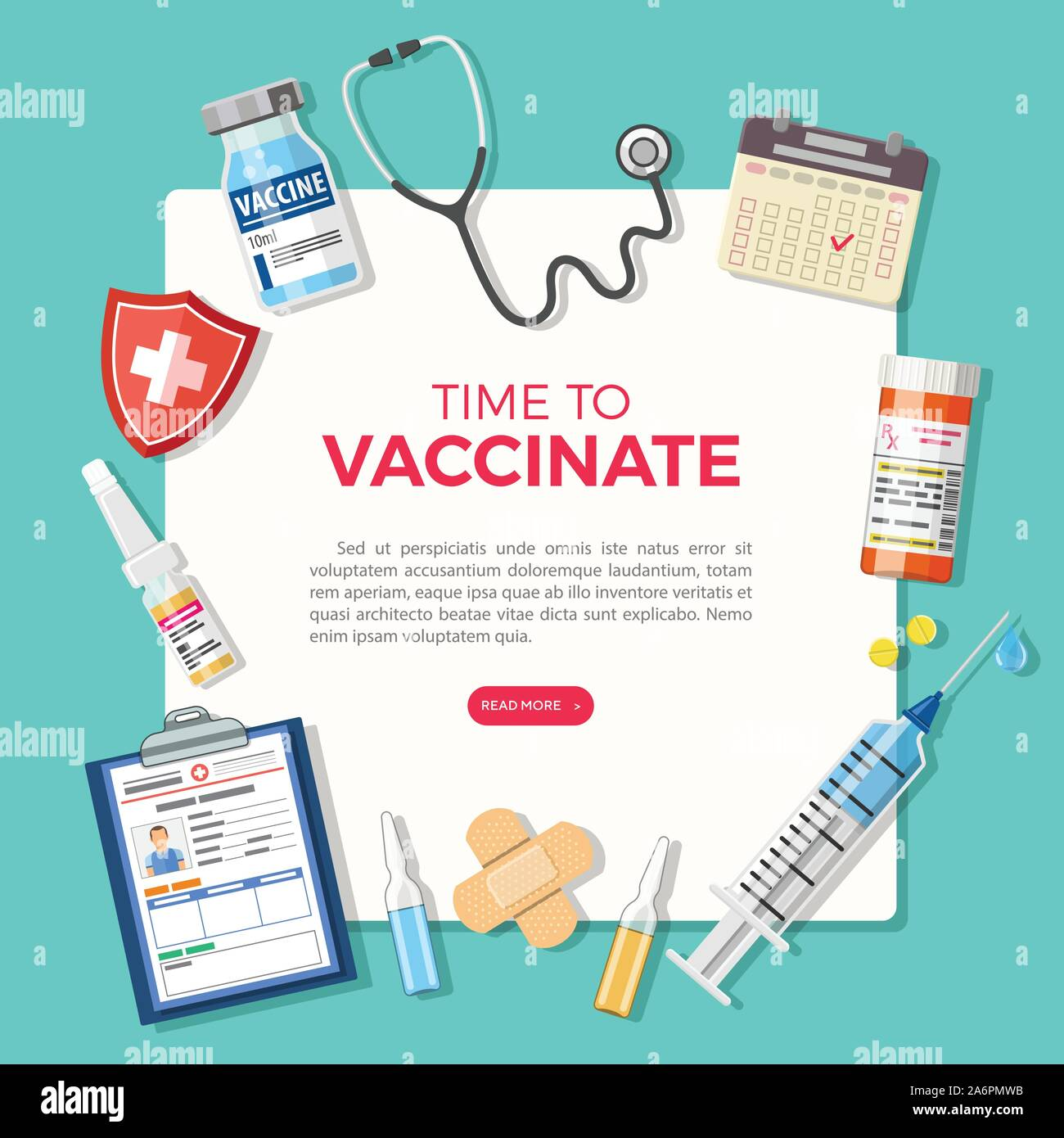 Flu Vaccination Poster High Resolution Stock Photography And Images Alamy