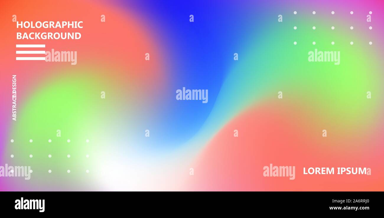 Holographic rainbow background vector iridescent texture. Abstract gradient color foil cover. Modern color neon pattern. Vibrant graphic creative post Stock Vector