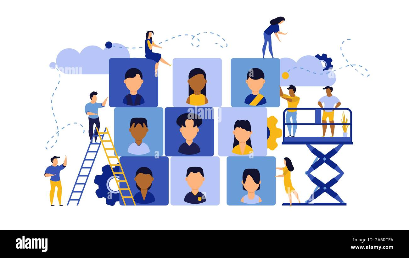 Job Career Business Success Agency Audience Vector Illustration Customer Looking Office Company Choice Banner Work Man And Woman Recruitment Search Stock Vector Image Art Alamy