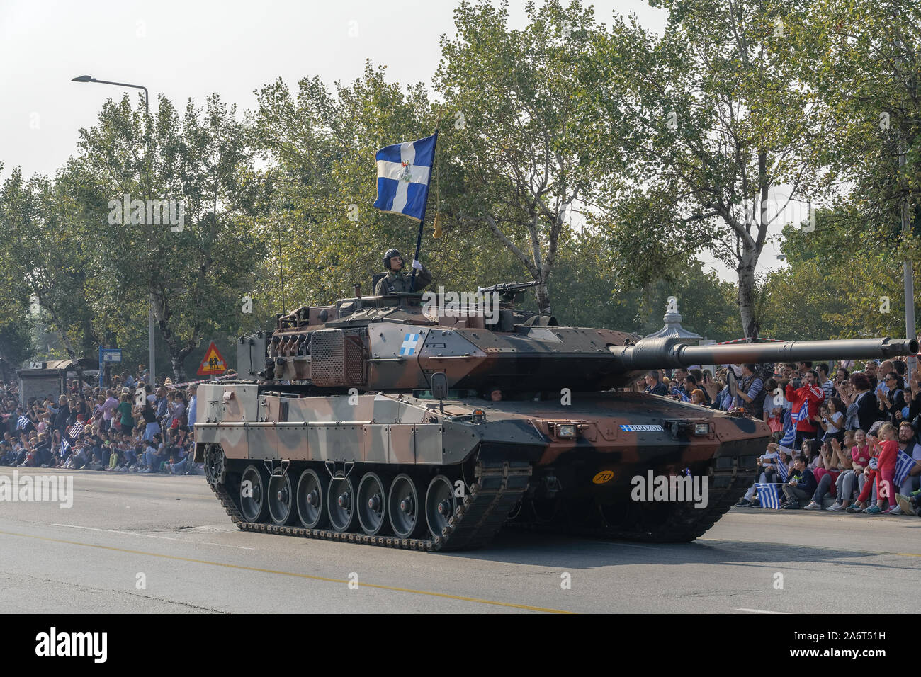 Thessaloniki Oxi Day Greek Army Tanks Parade March During National Day Celebration Military Parade For Greek No Against Italian 1940 Ultimatum Stock Photo Alamy