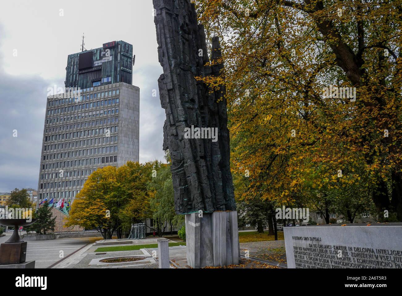 Homage To The Revolution Spomenik Revolucije Republic Square