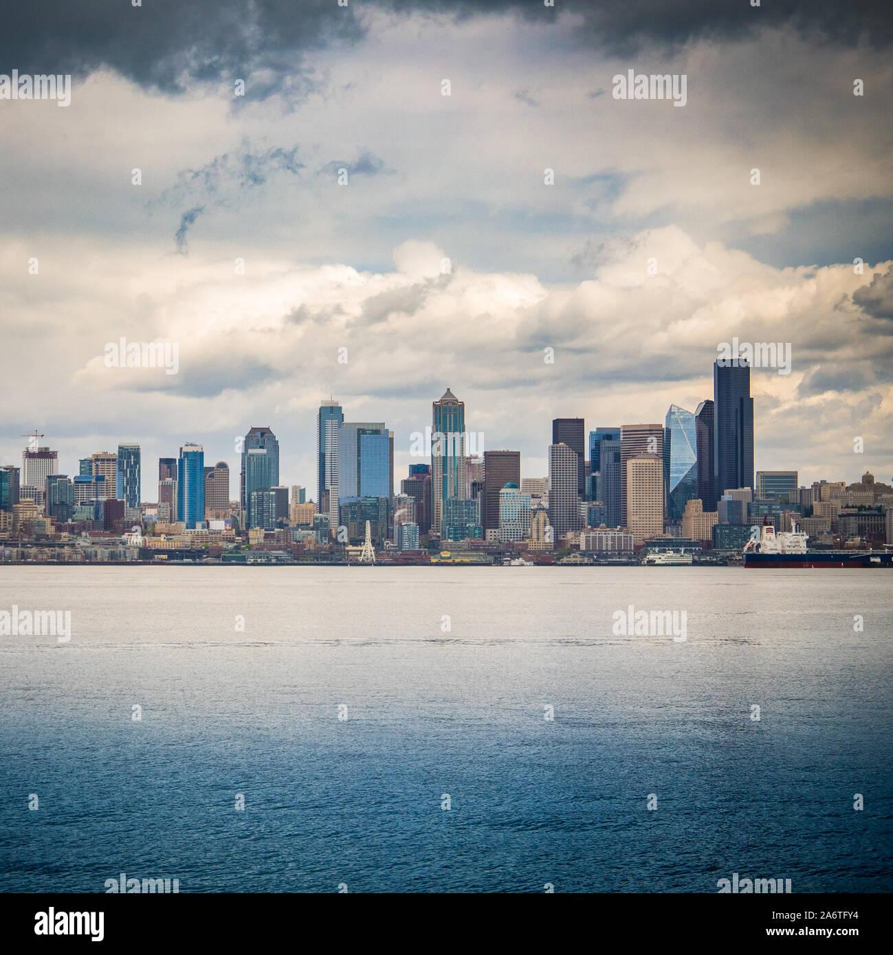 Seattle Seascape Stock Photo
