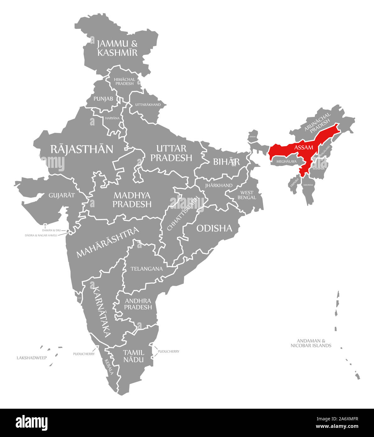 Assam Map High Resolution Stock Photography And Images Alamy