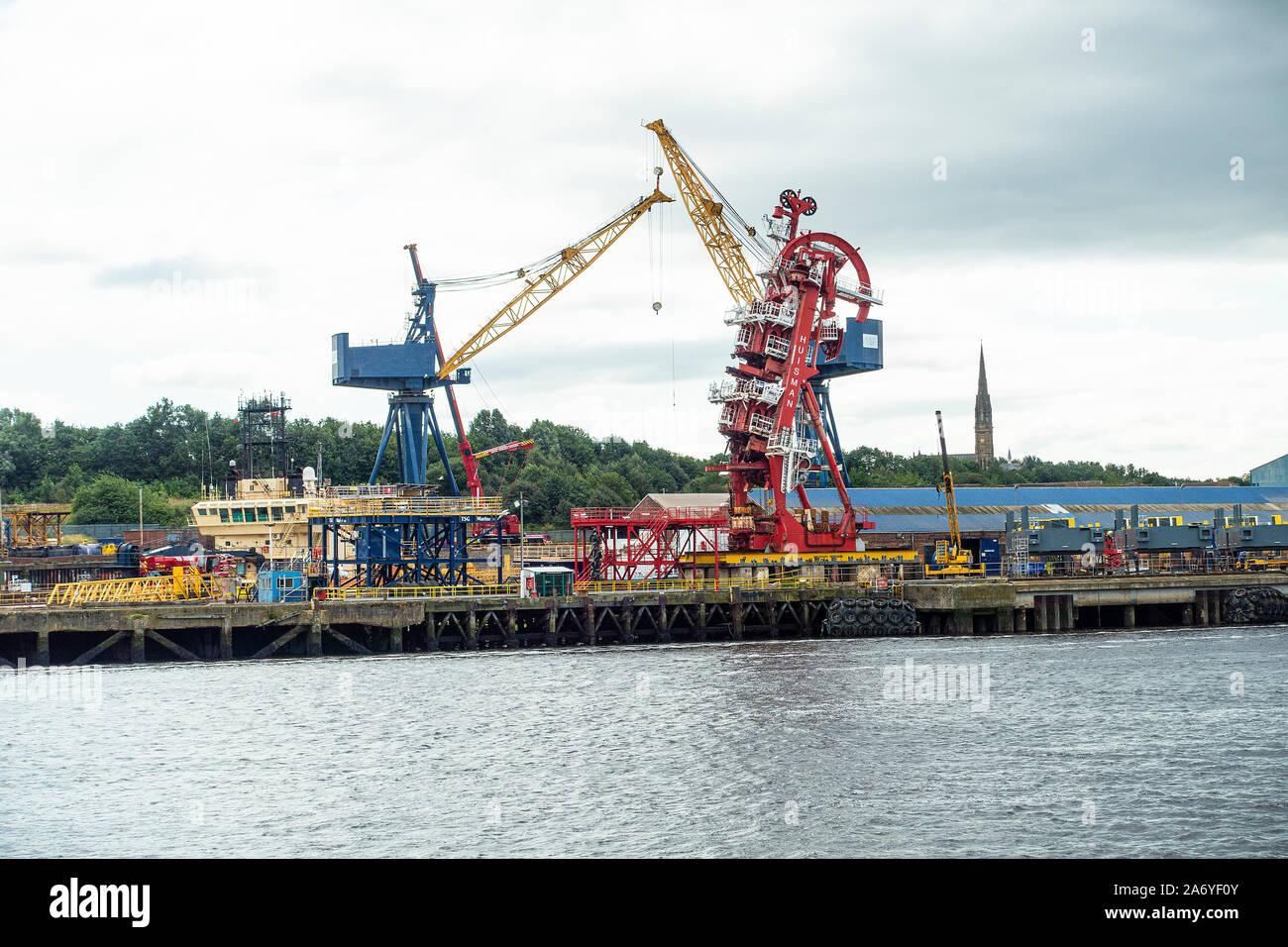 A & P Engineering Global Ship Repair Yard on the River Tyne at Hebburn Tyne and Wear England United Kingdom UK Stock Photo