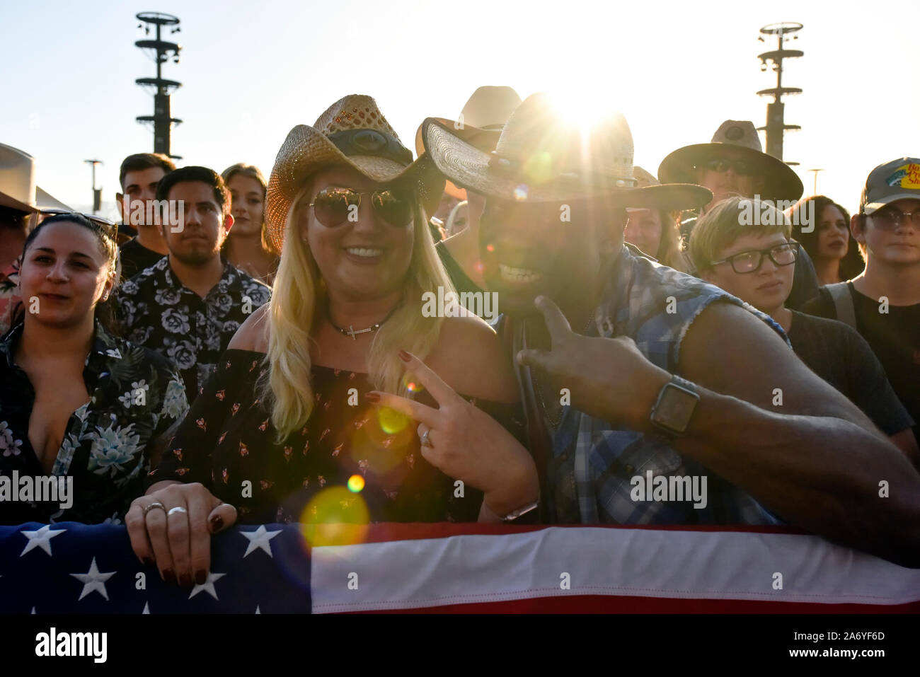 Crowd scene at the Stagecoach Country Music Festival in Indio, California Stock Photo