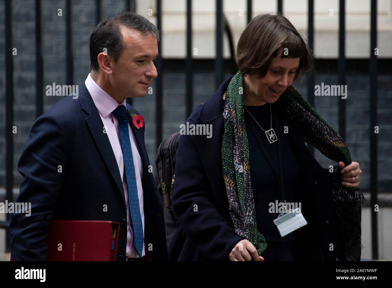 London, UK. 29th October 2019. Alun Cairns, Secretary of State for Wales leaving Downing Street after a Cabinet Meeting. Claire Doherty/Alamy Live News. Stock Photo